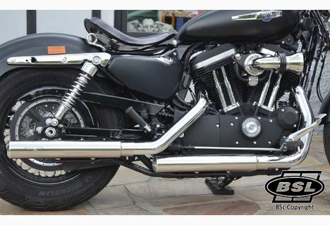 Slip On Mufflers XL 2014 up Smooth chrom